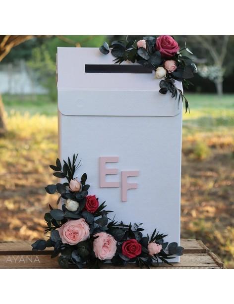 Urne de fleurs boite aux lettres