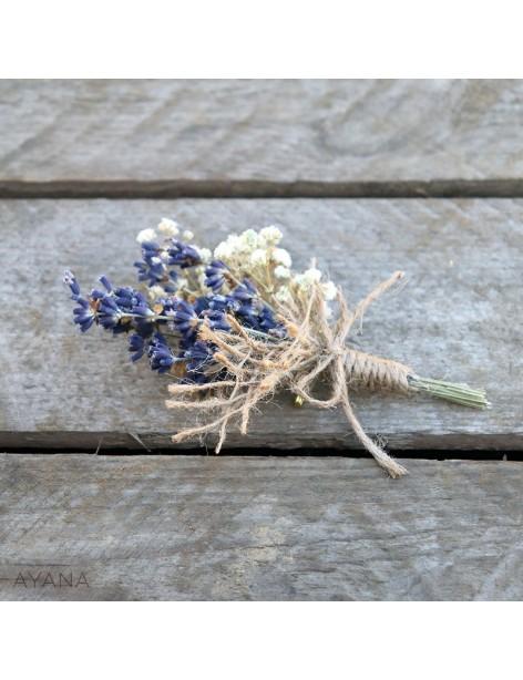 Boutonniere fleurs stabilisees authenticite
