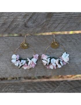 Boucles oreilles fleurs eternelles elyna