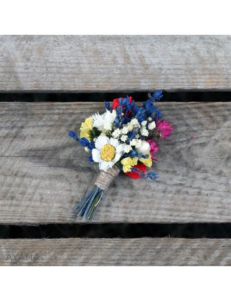 Boutonniere en fleurs eternelles crativite