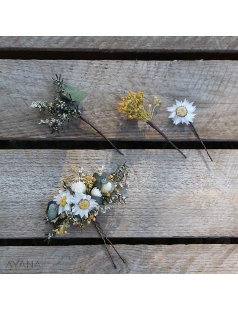 Epingle Roxane en fleurs stabilisees