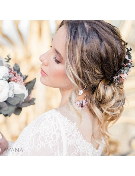 Boucles oreilles fleurs eternelles pauline