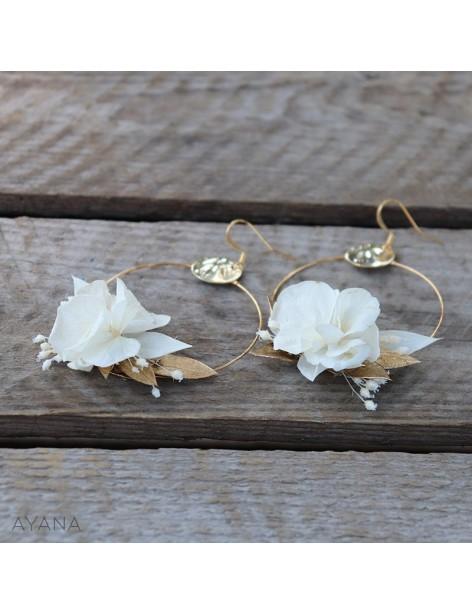 Boucles oreilles de fleurs gwenaelle