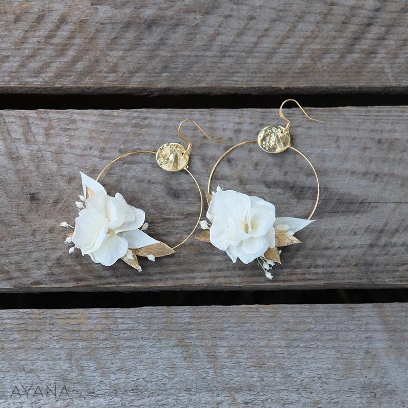 Boucles oreilles fleurs gwenaelle