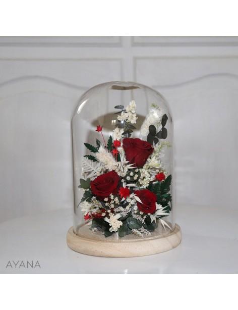 """Ambiance Festive"" Glass Bell"
