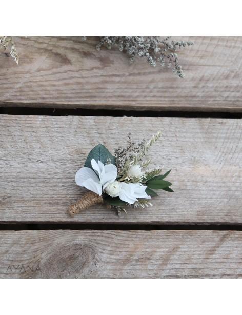 Boutonniere fleurs fidelite