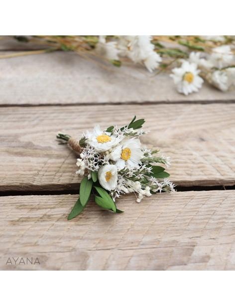 Boutonniere Discretion fleurs