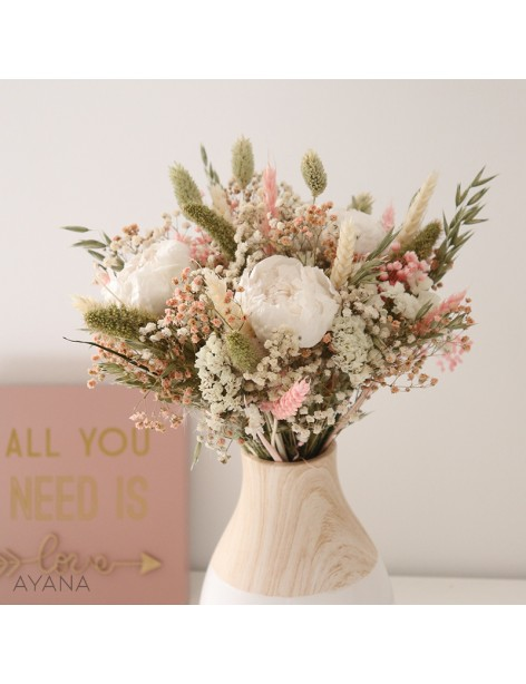 Bouquet Aix fleurs eternelles rose