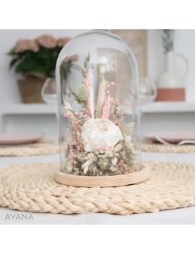 Cloche Aix en Provence fleurs stabilisees
