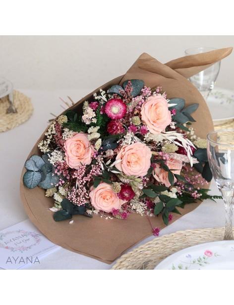 Bouquet Aubagne en fleurs eternelles