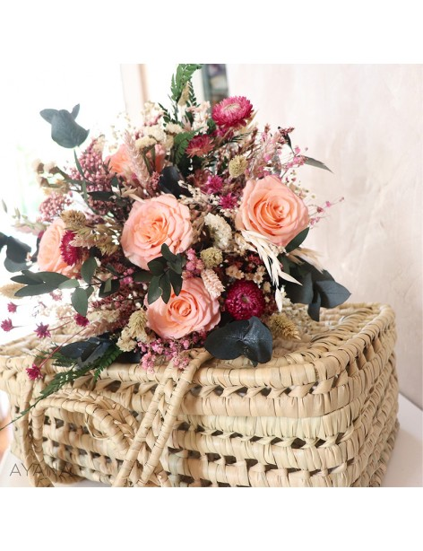 Bouquet Aubagne fleurs stabilisees