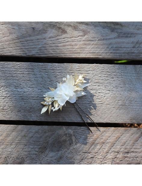 Epingle Gwenaelle en fleurs eternelles