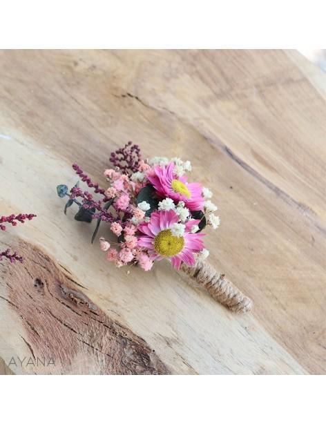 Boutonniere Spontaneite fleur stabilisees