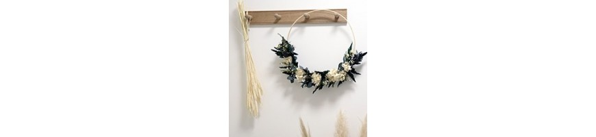 Wall crowns - Preserved and dried flowers - AYANA Floral Design