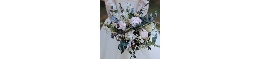 Bouquets de mariées - Fleurs stabilisées et séchées - AYANA Floral Design
