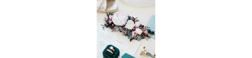 Wedding headdresses - Preserved and dried flowers - AYANA Floral Design