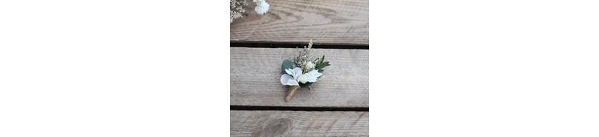 Boutonnière mariage - Fleurs stabilisées et séchées - AYANA Floral Design
